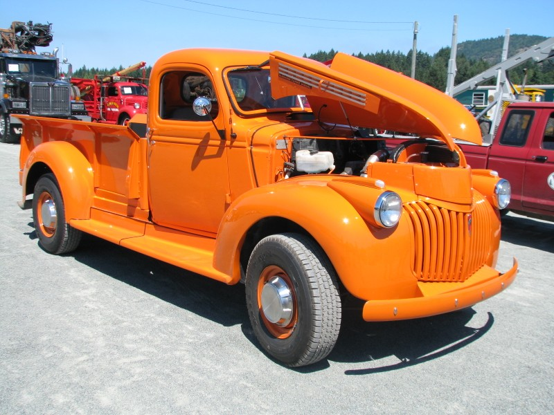 Chevrolet Truck Pics - Orange truck | ATHS Vancouver Island Chapter